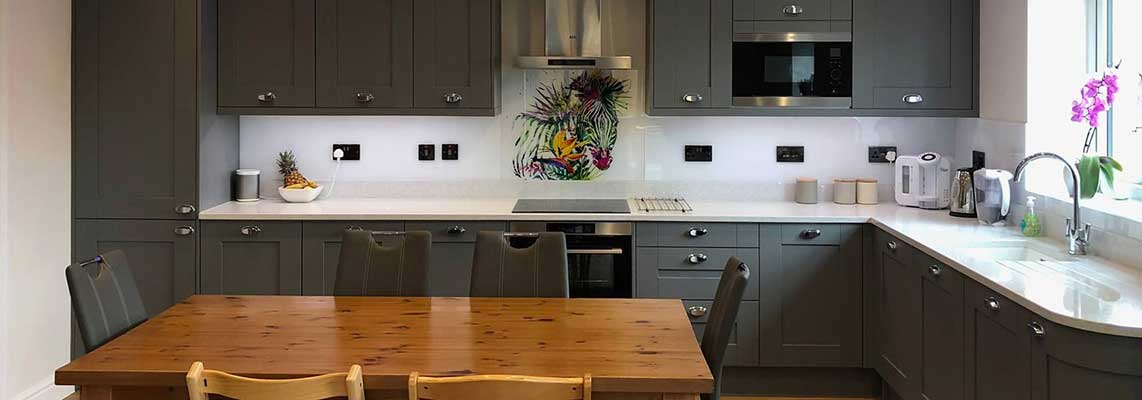 Bespoke Kitchen Splashbacks, Glass or Tiles